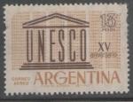 Stamps America - Argentina -  UNESCO 15 ANIVERSARIO