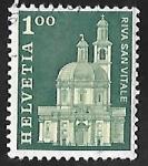 Sellos de Europa - Suiza -  Iglesia de la Santa Cruz