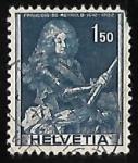 Sellos de Europa - Suiza -  Lt-Gen Francois de Reynold (1642-1722)