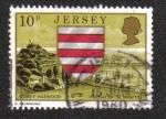 Stamps Jersey -  Escudo de armas