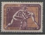 Sellos del Mundo : Asia : India : CAMPEONATO MUNDIAL DE LUCHA OLÍMPICA 1967