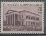 Sellos del Mundo : Asia : India : 150 ANIVERSARIO COLEGIO SERAMPORE DESDE 1818