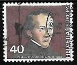Sellos de Europa - Suiza -  Johann Conrad Kern (1808-88)
