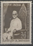 Sellos de Asia - India -  DR. ZAKIR HUSAIN PRESIDENTE DE LA INDIA 1967-1969