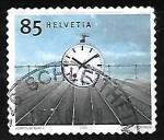 Sellos de Europa - Suiza -  Reloj de la estacion 1944