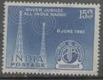 Sellos de Asia - India -  RADIO INDIA BODAS DE PLATA 8 DE JUNIO DE 1961