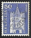 Stamps Europe - Switzerland -  Spalen Gate, Basel