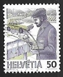 Stamps Europe - Switzerland -  Cartero