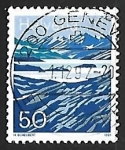 Stamps Europe - Switzerland -  Lago Moesola