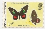 Stamps : America : Belize :  Mariposas