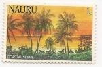 Sellos del Mundo : Oceania : Naurú : Palmeras