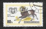 Stamps : Europe : Czechoslovakia :  1860 - Exposición mundial de caza, muflón