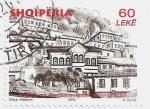 Stamps : Europe : Albania :  Town View