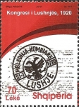 Stamps : Europe : Albania :  90th anniversary of the Congress of Lushnjë 1