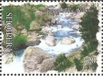 Stamps : Europe : Albania :  Rocks in Valbonë River