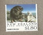 Sellos del Mundo : Oceania : Nueva_Zelanda : Dependencia de Ross , León marino