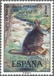 Stamps Spain -  ESPAÑA 1972 2102 Sello Nuevo Serie Fauna Hispanica Topo de Agua