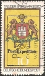 Stamps Europe - Germany -  Arms of Hamburg, Post Emblem, c. 1861 (GFR)