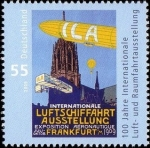 Stamps Europe - Germany -  100 years International Aerospace Exhibition Frankfurt am Ma (GFR)