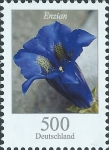 Stamps Europe - Germany -  Flowers - Gentian without stalk (Gentiana acaulis) (GFR)
