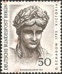 Stamps Europe - Germany -  Head of Victoria; Detail of the Quadriga on the Brandenburg (Berlin)