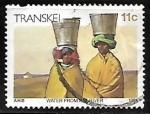 Sellos de Africa - Sudáfrica -  Transkey - Transportando agua del rio