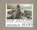 Stamps New Zealand -  Dependencia de Ross , Elefante marino