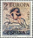 Stamps Spain -  ESPAÑA 1973 2125 Sello Nuevo Europa CEPT Rapto de Europa Mosaico Romano de Merida Badajoz