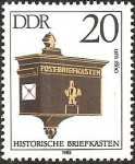 Stamps Germany -  Mailbox, about 1860 (GDR)