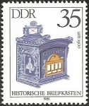 Stamps Germany -  Mailbox, about 1900 (GDR)