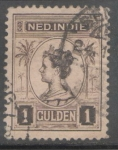 Stamps : Europe : Netherlands :  INDIAS ORIENTALES HOLANDESAS-REINA GUILLERMINA Y PALMERAS