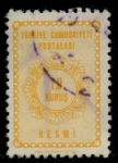 Stamps Turkey -  TURQUIA_SCOTT O91 $0.2