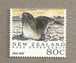 Stamps Oceania - New Zealand -  Dependencia de Ross , Foca de Ross