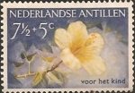 Stamps Netherlands Antilles -  Yellow hibiscus.