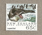 Stamps Oceania - New Zealand -  Dependencia de Ross , Foca leopardo