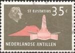 Stamps of the world : Netherlands Antilles :  De Ruyter obelisk, St. Eustatius.
