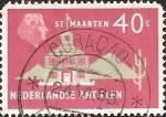 Stamps Netherlands Antilles -  Town Hall, St. Maarten