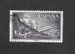 Stamps Spain -  Superconstelación y Nao Santa María
