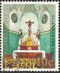 Stamps of the world : Netherlands Antilles :  Altar, St. Anna's Church, Otraband, 1752
