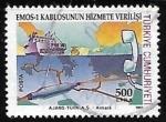 Sellos de Asia - Turquía -  Cable submarino