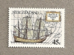 Stamps New Zealand -  Avistamientos marinos
