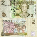 monedas del Mundo : Oceania : Fiji :  Fiji 2 Dollars 2007 P-109a