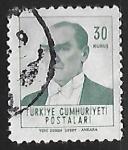 Stamps Turkey -  Atatürk
