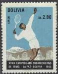 Stamps Bolivia -  Conmemoracion del XXXII Campeonato sudamericano de tenis realizado en La Paz