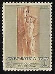 Sellos de America - Uruguay -  Estatua de Ariel