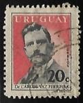 Sellos del Mundo : America : Uruguay : Dr. Carlos Vaz Ferreira