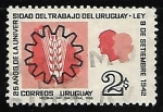 Sellos del Mundo : America : Uruguay : 25 años dela Universidad del trabajo de Uruguay
