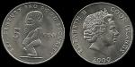 monedas de Oceania - Nueva Zelanda -  Islas Cook: 5 Cents (F.A.O.) 2000, km369