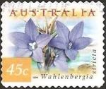 Stamps Australia -  Australian Bluebells - Wahlenbergia stricta