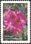 Stamps Australia -  Midnight Rhododendron